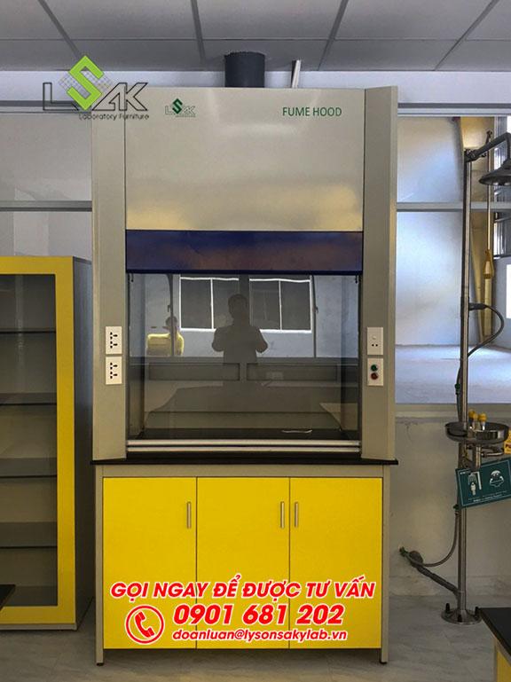Tủ hút khí độc phòng thí nghiệm nhà lắp đặt tại máy sản xuất keo dán Công ty Techbond MFG (Việt Nam)