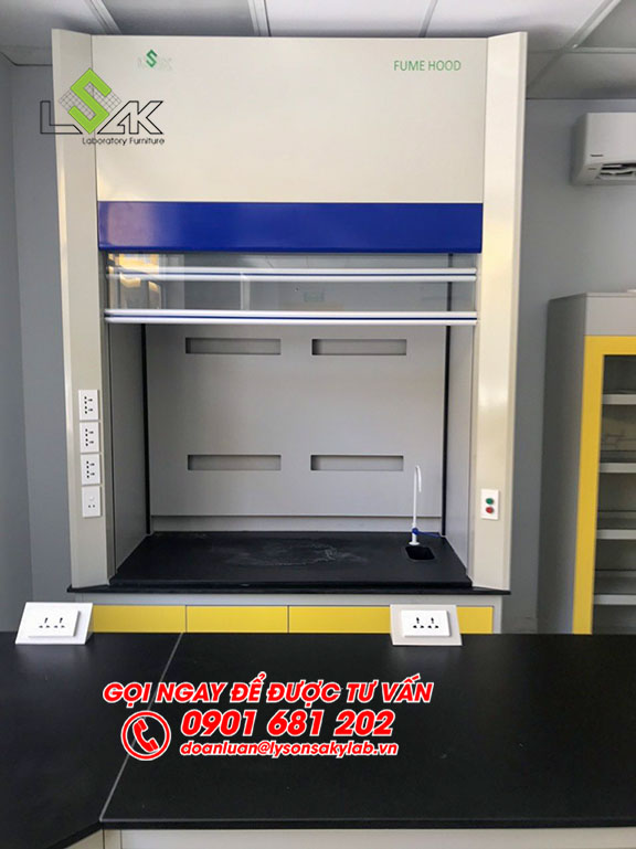 Tủ hút khí độc phòng lab nhà máy sản xuất keo dán Công ty Techbond MFG (Việt Nam)