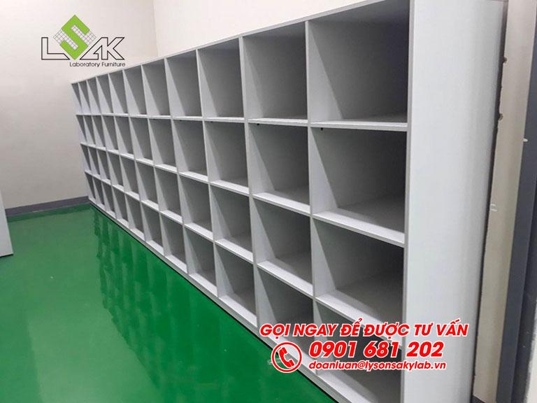 Tủ lưu mẫu phòng QC nhà máy Kolon Industries Việt Nam