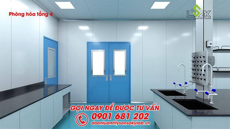 Thiết kế phòng hóa phòng lab dược phẩm Savipharm