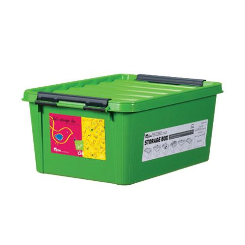 INP111GN-T - Thùng đựng đồ bằng nhựa Inplus Easy Clip 15L (Kids Xanh lá)