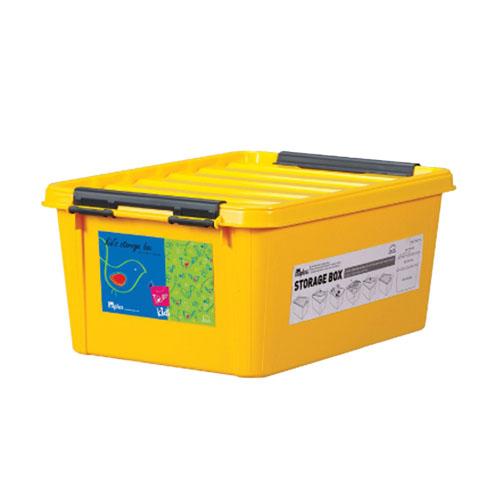 INP111Y-T - Thùng đựng đồ bằng nhựa Inplus Easy Clip 15L (Kids Vàng)