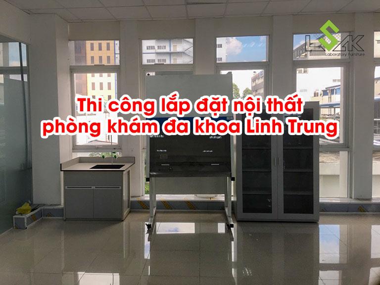 Thi công lắp đặt nội thất phòng khám đa khoa Linh Trung