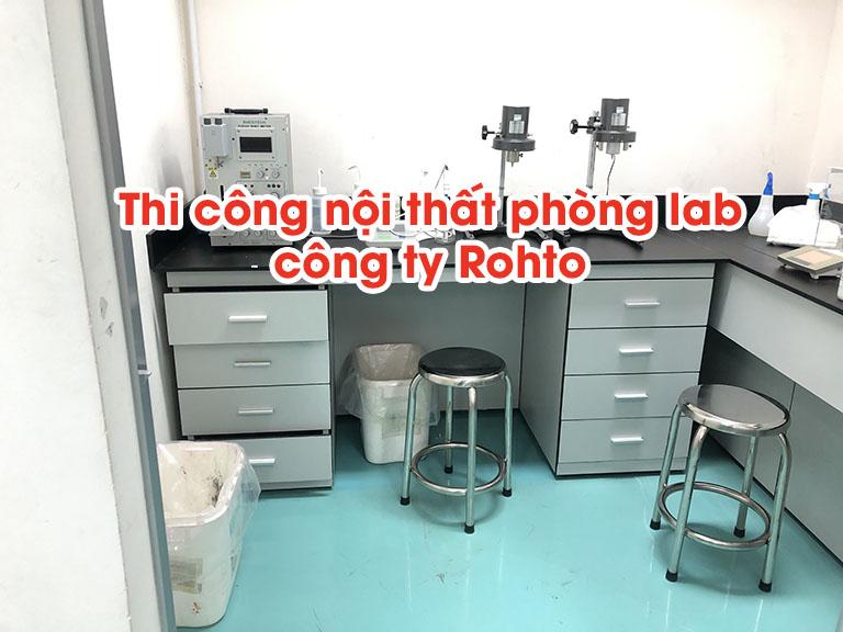 Thi công nội thất phòng lab công ty Rohto