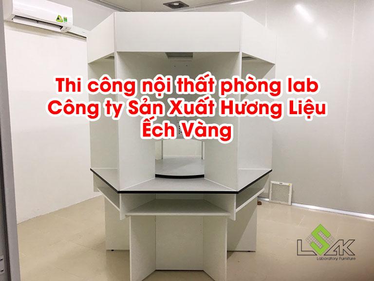 Thi công nội thất phòng lab công ty Sản Xuất Hương Liệu Ếch Vàng