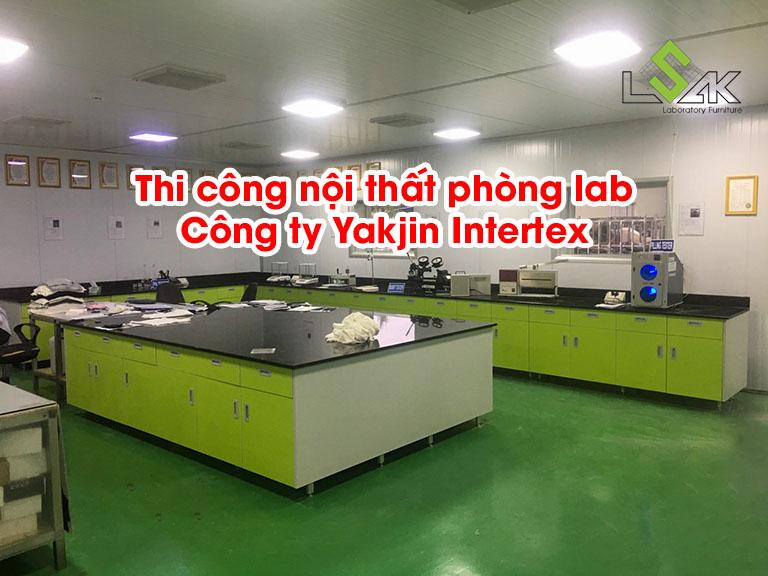 Thi công nội thất phòng lab Công ty Yakjin Intertex