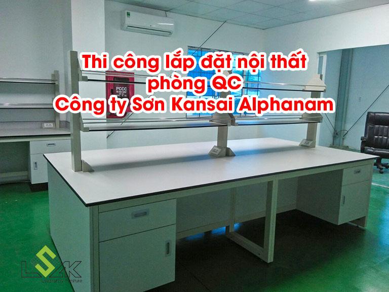 Thi công nội thất phòng QC Công ty Sơn Kansai Alphanam
