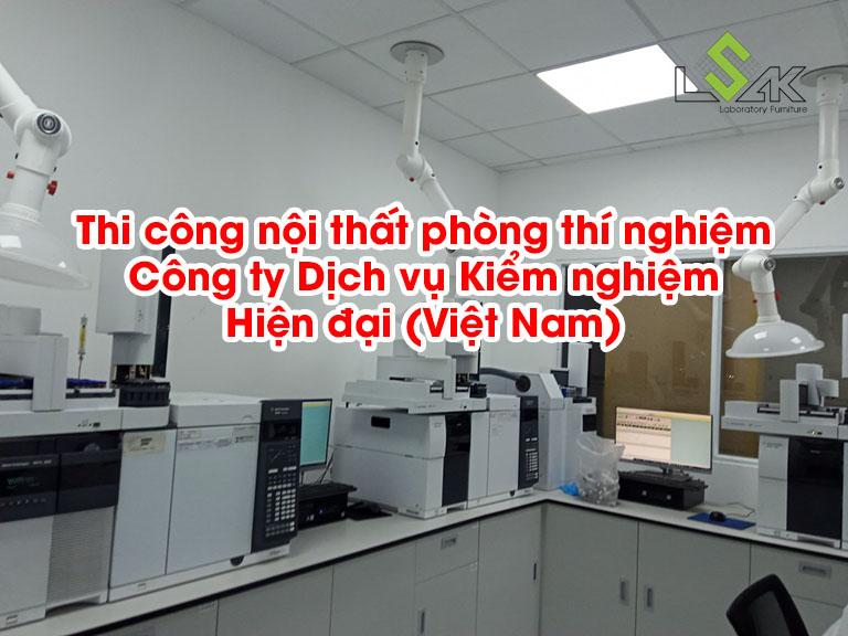 Thi công nội thất phòng thí nghiệm Công ty Dịch vụ Kiểm nghiệm Hiện đại (Việt Nam)