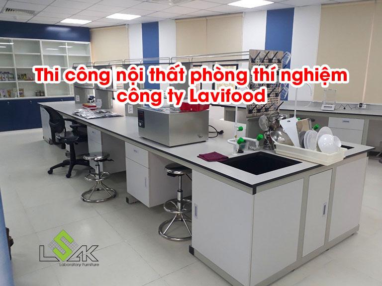 Thi công nội thất phòng thí nghiệm công ty Lavifood