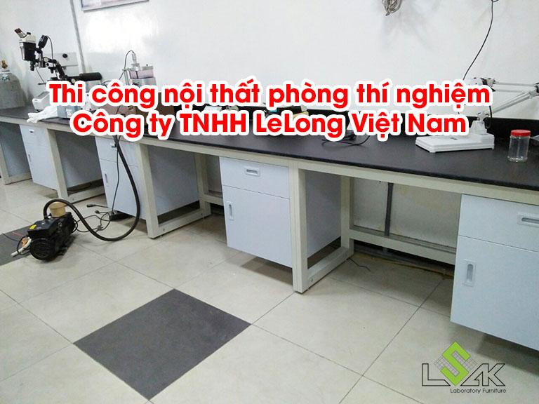 Thi công nội thất phòng thí nghiệm Công ty TNHH LeLong Việt Nam