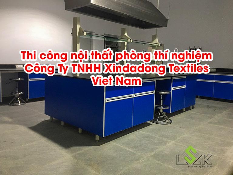 Thi công nội thất phòng thí nghiệm Công Ty TNHH Xindadong Textiles Viet Nam