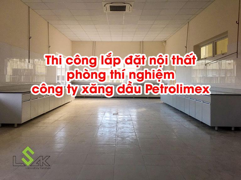 Thi công nội thất phòng thí nghiệm công ty xăng dầu Petrolimex