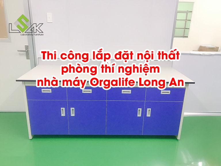Thi công nội thất phòng thí nghiệm nhà máy Orgalife Long An