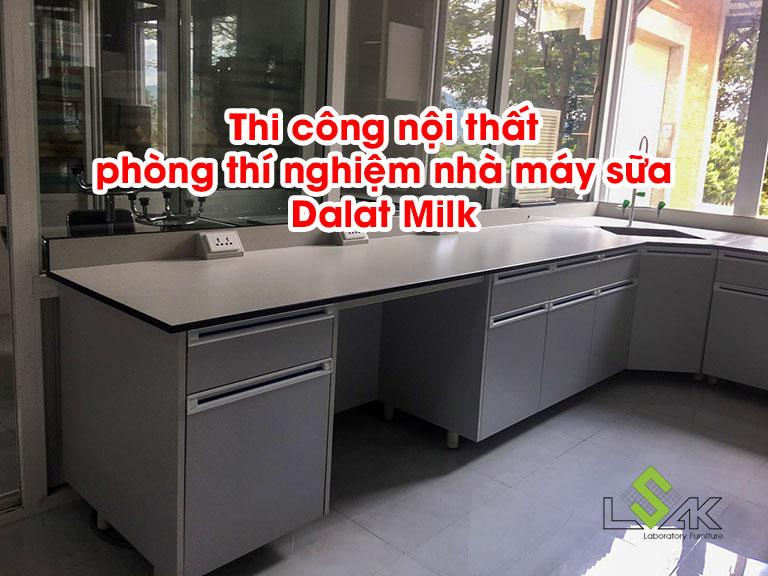 Thi công nội thất phòng thí nghiệm nhà máy sữa Dalat Milk
