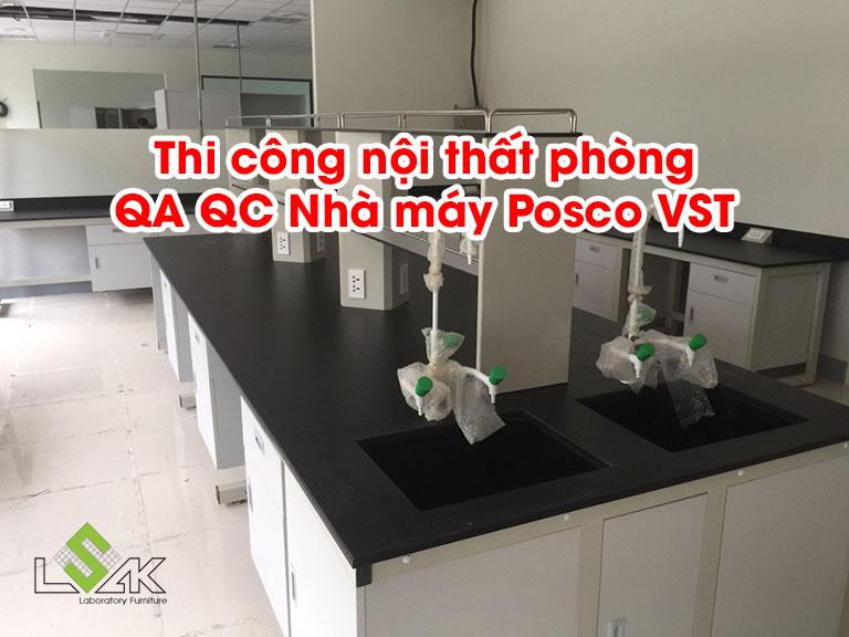 Thi công nội thất phòng thí nghiệm QA/QC Công Ty TNHH Posco V.S.T
