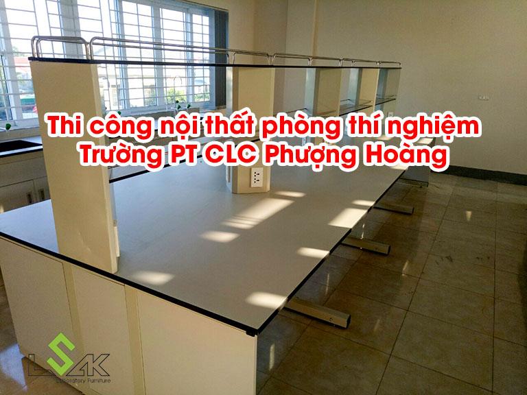 Thi công nội thất phòng thí nghiệm Trường PT CLC Phượng Hoàng