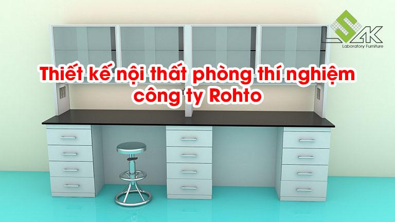 Thiết kế nội thất phòng thí nghiệm công ty Rohto