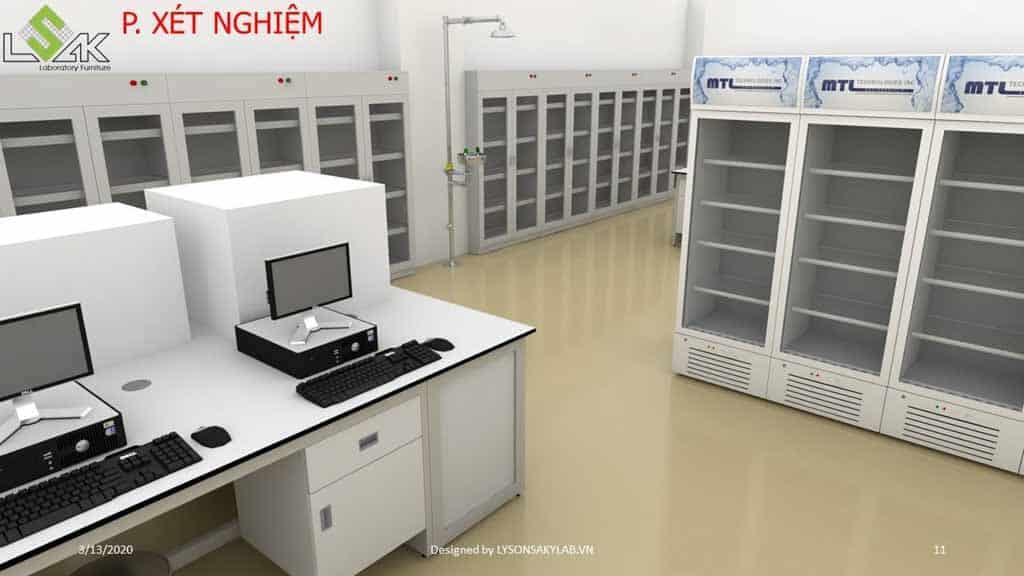 Thiết kế phòng khám đa khoa phòng xét nghiệm