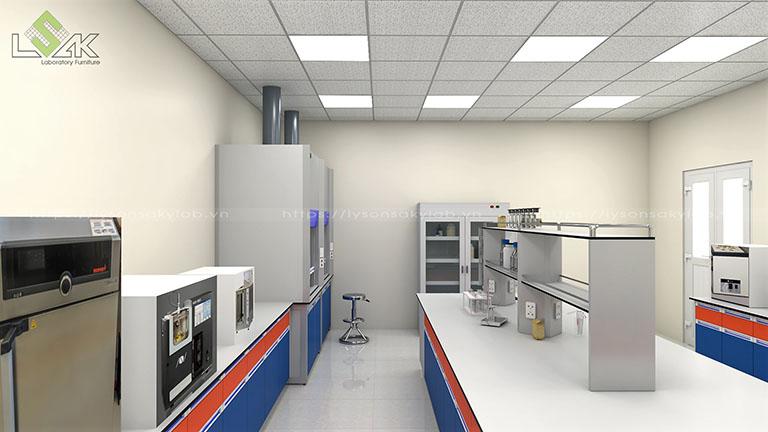 Thiết kế nội thất phòng thí nghiệm hóa lý Công ty Cổ Phần Dầu Khí Đông Phương