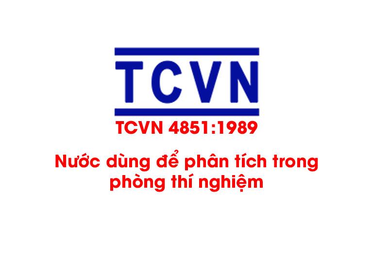 TCVN 4851:1989 Nước dùng để phân tích trong phòng thí nghiệm