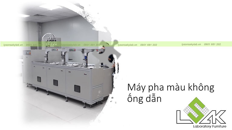 Máy pha màu không ống dẫn