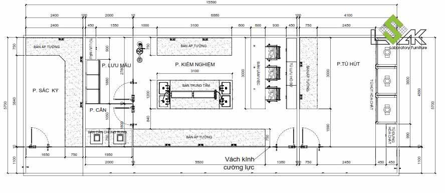 Thiết kế phòng QA/QC nhà máy dược phẩm