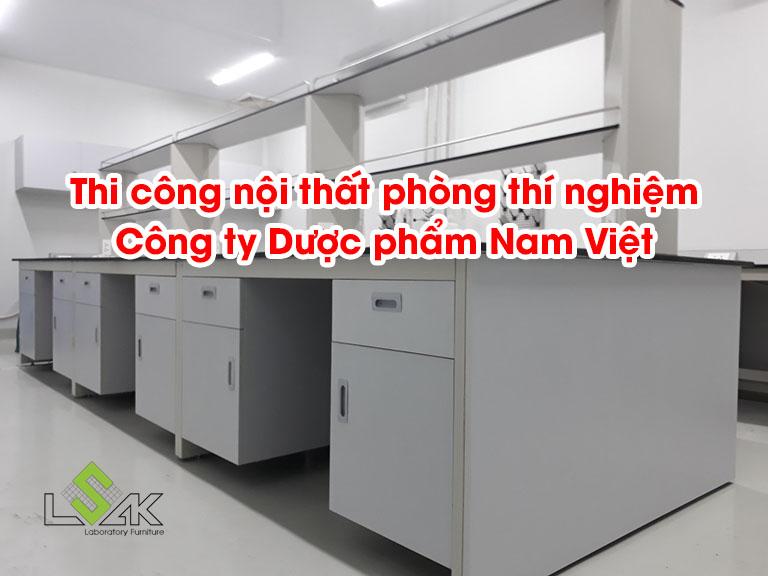 Thi công nội thất phòng thí nghiệm Công ty Dược phẩm Nam Việt