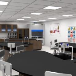 Thiết kế bàn thí nghiệm trường học quốc tế