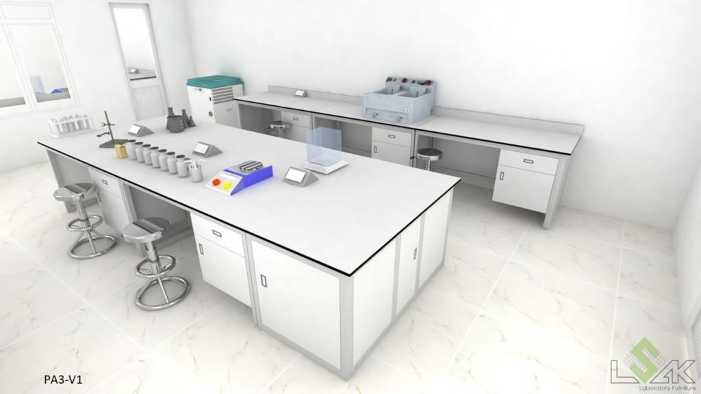 Thiết kế 3D phòng thí nghiệm nước tẩy giặt