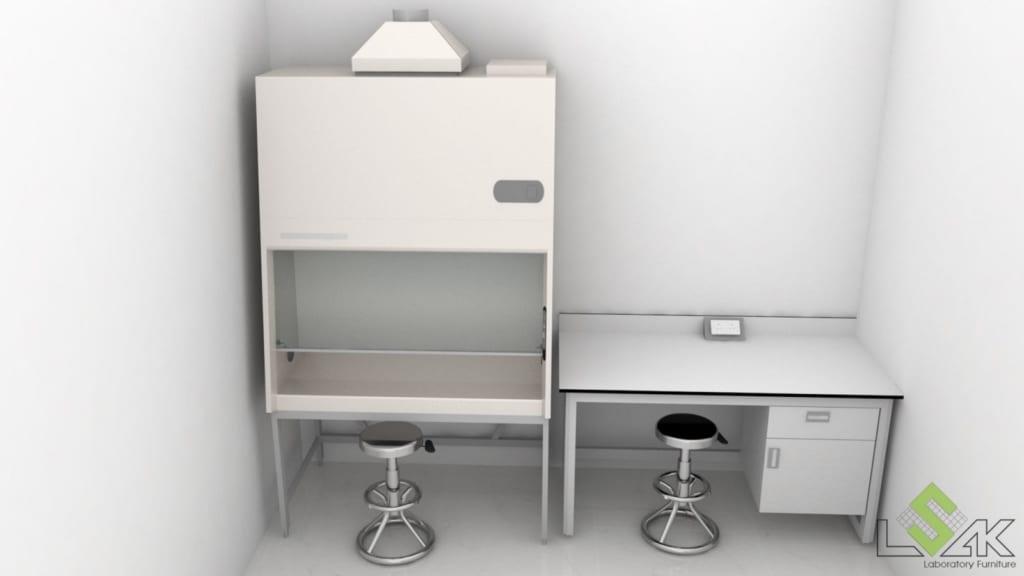 Thiết kế tủ hút hóa chất phòng thí nghiệm nước tẩy giặt